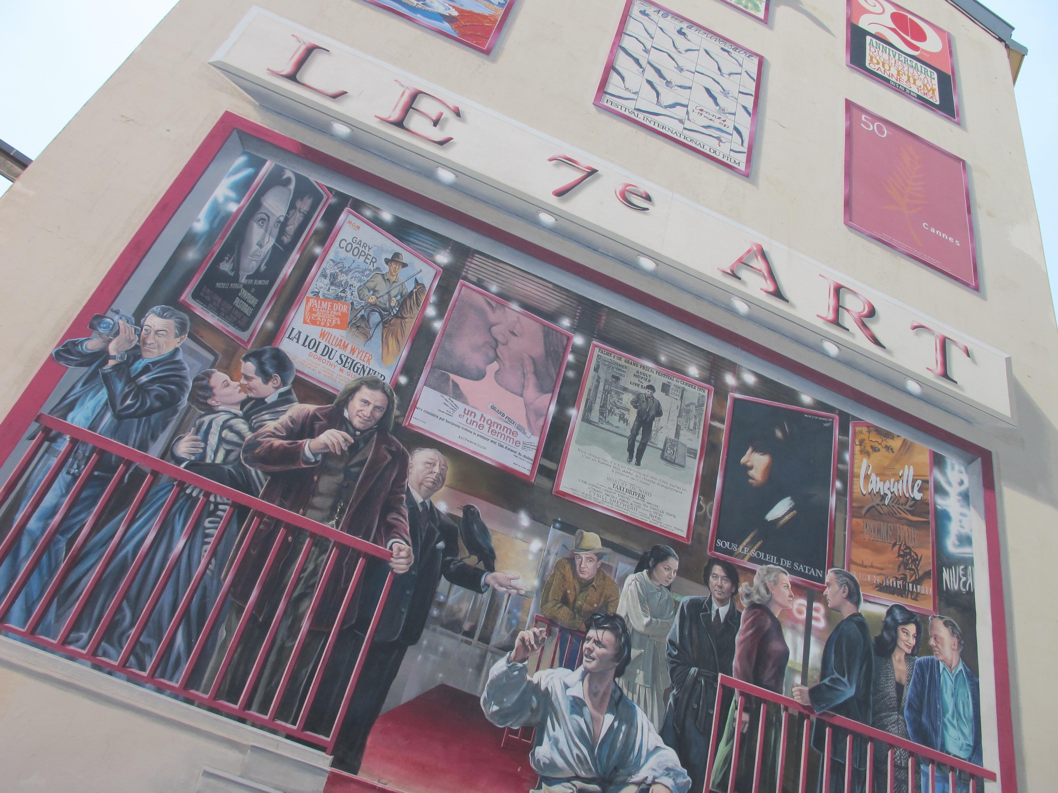 Mur peint de l'Hôtel 7Art
